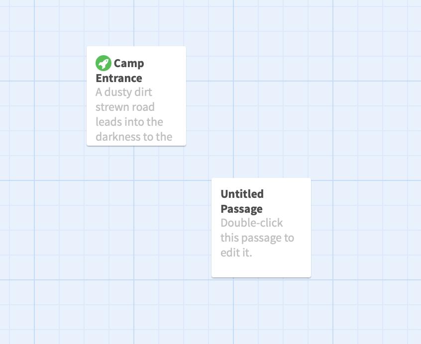 Screenshot showing the arrangement of the passages.