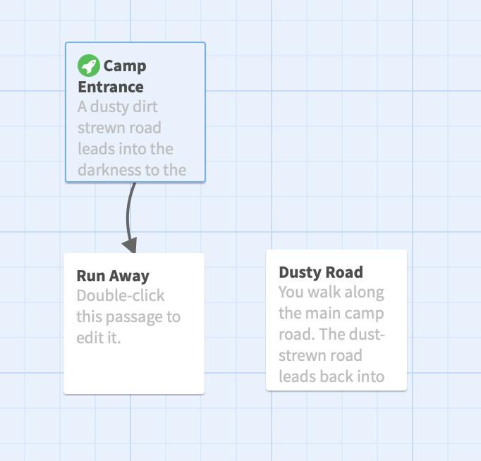 Screenshot shows the arrangement of passages.