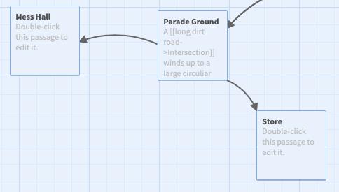 A screenshot showing the arrangement of passages.
