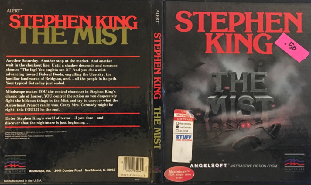 The cover for The Mist text adventure.